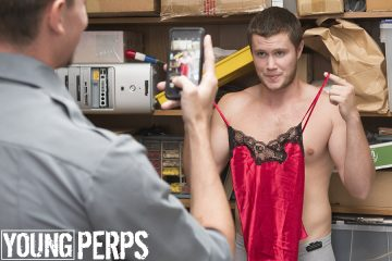 Young perp caught with stolen lingerie