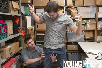 young stud gets a hand up his crotch