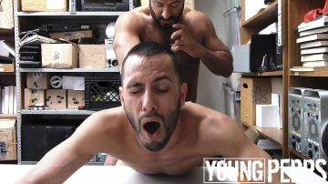Bearded young perp fucked hard from behind