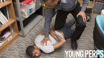 Black troublemaker gets interrogated