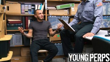 Young man being interrogated